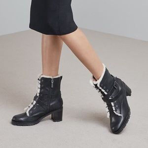 UGG | Ingrid Leather Combat Boots